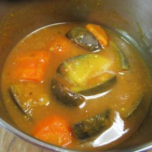 サッパリ茄子のスパイスカレー