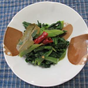 芥藍菜のローリエ風味炊き