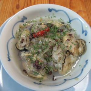牡蠣の蒸し物