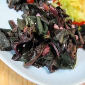 紅鳳菜(金時草)のチーズ炊き