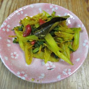 セロリのスリランカ風味炊き