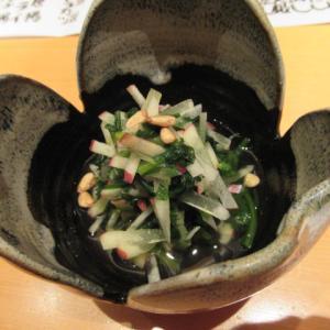 菊菜とリンゴの煮びたし