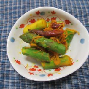 アスパラガスの蝦醬炊き
