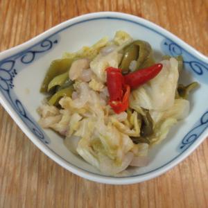 泡菜キャベツの白味噌炊き