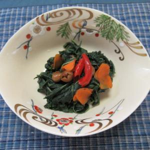 樹子地瓜葉 さつま芋の葉の樹子炊き