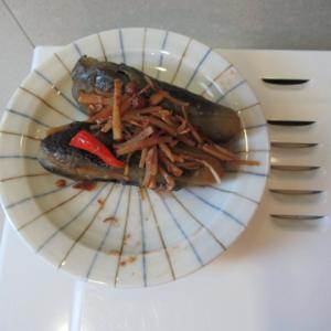 小茄子のマーボー茄子風炊き