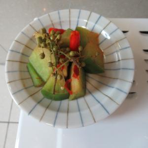 青大根の生花椒炊き