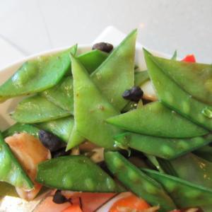 サヤエンドウの豆豉炊き