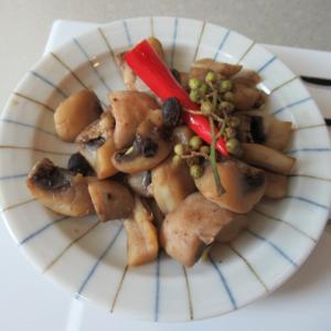 マッシュルームの豆豉炊き