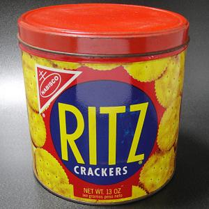 ★70'sアメリカ ナビスコ社リッツ クラッカー缶