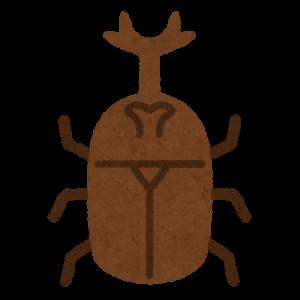死にかけのカブトムシの触覚運動