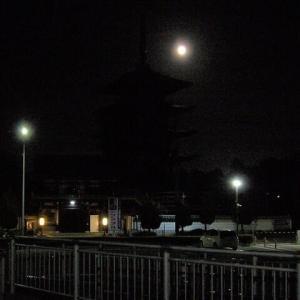 中秋の名月を歩く