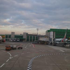 ミラノの空港間をバス移動 マルペンサ・エクスプレスに乗車