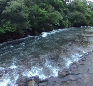 連休初日に尻別川上流へ