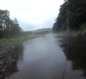渇水を避けて尻別川上流へ