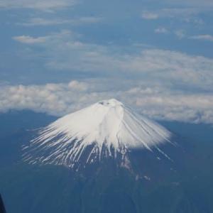 高い山を俯瞰する
