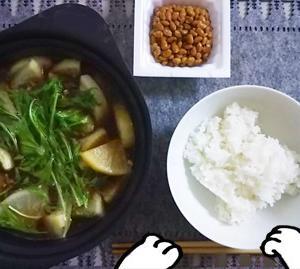 最近の食事(大根と鯖缶の煮物)とモフモフ猫男爵