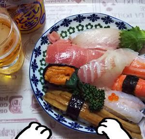 最近の食事(寿司)と猫ロード