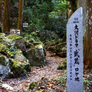 秋が深まる山乗渓谷の不動滝 2019.11.06