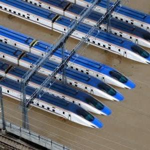 北陸新幹線・車両基地の水没