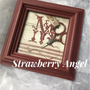 トールペイント新作★赤糸刺繍★素敵なデザインに一目ぼれ7月レッスンスケジュールも更新してます