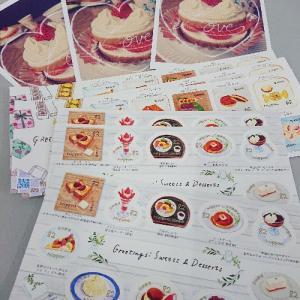 グリーティング スウィーツの切手と特印で出したお手紙