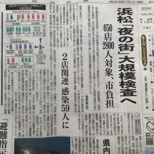 【静岡県浜松市】新型コロナウィルス感染症クラスター発生関連記事より