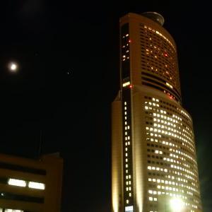 【暗い環境でのご視聴推奨します】アクトタワーと木星と土星と月