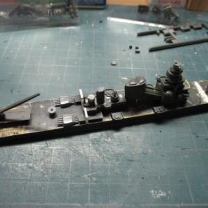 ハセガワ 1/700 旧キット 重巡洋艦 古鷹 を作る(その8)
