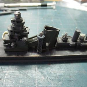 ハセガワ 1/700 旧キット 重巡洋艦 古鷹 を作る(その9)