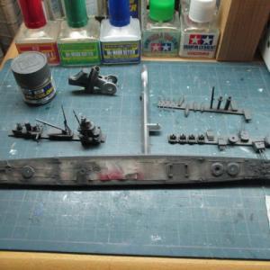 ハセガワ 1/700 旧キット 重巡洋艦 古鷹 を作る(その13)
