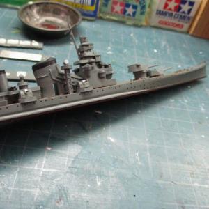 ハセガワ 1/700 旧キット 重巡洋艦 古鷹 を作る(その15)
