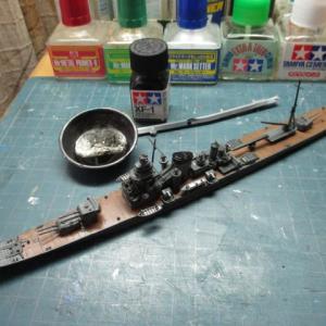 ハセガワ 1/700 旧キット 重巡洋艦 古鷹 を作る(その17)