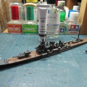 ハセガワ 1/700 旧キット 重巡洋艦 古鷹 を作る(その18)
