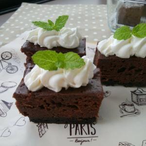 レンジで濃厚ショコラケーキと城町食堂。