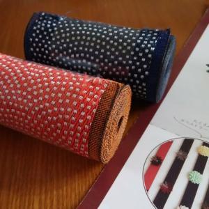 畳べりで作ったペンケースと沖縄風クレープちんびん。