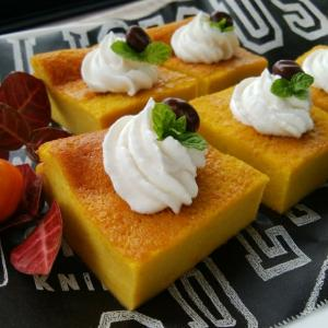 ミキサーでかぼちゃケーキと、出流山満願寺。