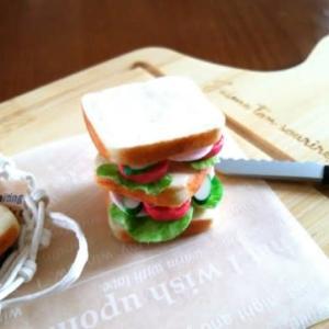 ミニチュア食パン作りとサンドイッチ、オレンジの寒天。