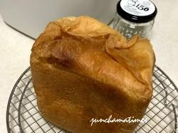 新しいホームベーカリーでパンを焼きました。
