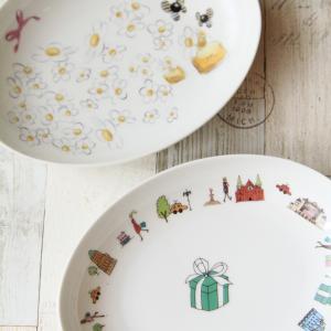 ポーセラーツ ブランド風カレー皿