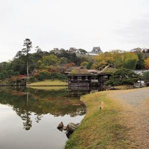 彦根城の御庭「玄宮楽々園」でお抹茶を頂く(滋賀県彦根市)
