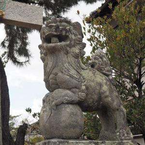 備中国総社で見つけた神様の面