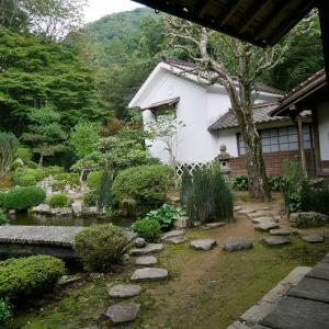 永明寺の修理中のご本堂内部と庭園 (島根県津和野町)