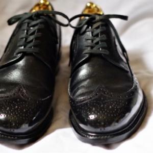 昔の香港製英国靴。SAM KEE LONG WING TIP。
