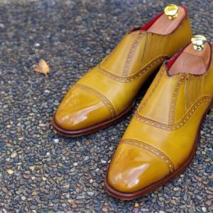 初イタリア靴。GENESIO COLLETTI サイドエラスティック。