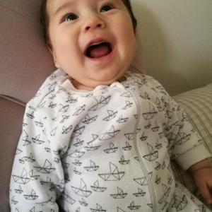 【生後3ヶ月】息子の笑顔。