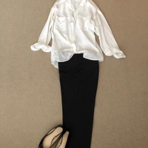 白シャツと雨用バレエシューズで初めての小学校通学