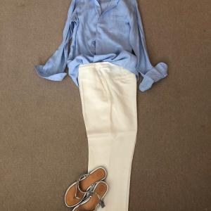 お気に入りのブルーのリネンシャツで考える人間の本質と育児