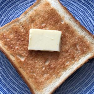 頂き物の高級食パンで幸せな朝ごはん