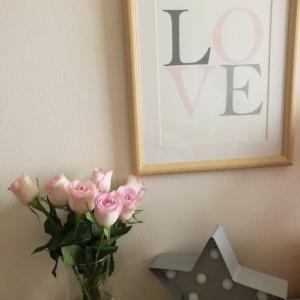 ピンクのバラで感じる女の子ママな幸せ